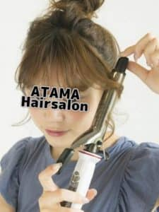 バンコクATAMAヘアーサロンのメッシーバンイメージ